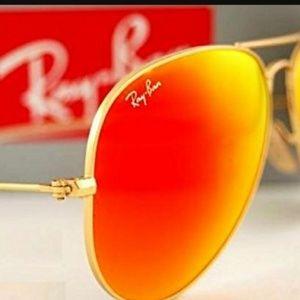 Ray Ban 3026 Aviator Mirror Sunglasses